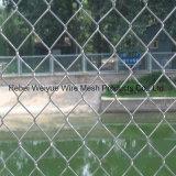 運動場のためのPVCによって電流を通される編まれた金網のチェーン・リンクの塀