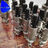 위생 Ss304 남성은 압력 안전 밸브를 끝낸다