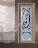 Porte en aluminium de tissu pour rideaux de salle de bains et de cuisine en verre givré de mode