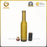 mini bouteille en verre verte du vin 200ml avec le dessus de liège (530)