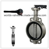 CF8 CF8m Handle Wafer Butterfly Valve met Ce ISO (D71X-10/16)