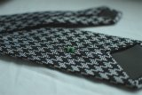 Jogos feito-à-medida de seda do presente do quadrado do bolso de lenço do laço do logotipo