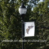 Bras extérieur léger de drapeau de matériel de supports publicitaires de bride de signe de câble de Pôle