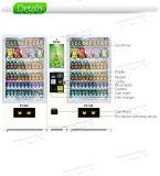Tela de toque elevador máquina de venda automática com sistema refrigerado