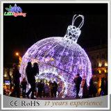 Grosse LED-im Freienweihnachtskugel beleuchtet Feiertags-helles Garten-Dekoration-Licht