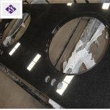 Partie supérieure du comptoir noire ajustée personnalisée de granit/Worktop/dessus de vanité