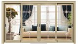 4 paneles de puerta corrediza de Aluminio interior de la sala de TV
