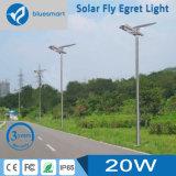 15W tutto in un indicatore luminoso di via solare del LED con il comitato solare registrabile