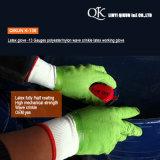 Resistência 3 do corte de K-163 Deenyma/5 luvas de trabalho revestidas espuma da segurança do PVC do plutônio do nitrilo do látex