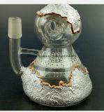 Tubulação do fumo do Gourd do ouro e da prata