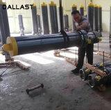 3 cilindro hidráulico da luva telescópica do estágio do estágio 5 do estágio 4