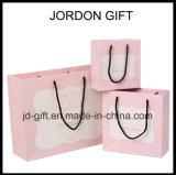 Sacs en papier de empaquetage de logo de modèle de cadeau fait sur commande élégant à la mode de bijou