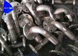 フランジが付いているカスタマイズされたステンレス鋼の適用範囲が広いうなり声のティー