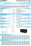 SBB Lead Acid Battery 6-Gfm-200 (12V200AH) Gel Series SLA Battery für Telecommunications Solar UPS-CER RoHS UL Approved