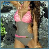 対照カラーLycraの方法ビキニの水着の水着