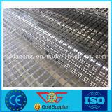 L'asphalte de la chaussée en fibre de verre autoadhésif biaxes géogrille