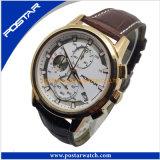 La mode de regarder les Hommes cuir imperméable de quartz watch