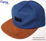 スエードの縁5のパネルの帽子の急な回復の帽子の帽子
