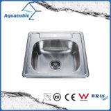 Un comptoir cuisine Square évier en acier inoxydable (ACS5355)