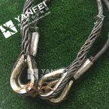 Honda de la cuerda de alambre con el dedal y la virola presionados sólidos