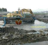 Bomba de pasta de dragagem de areia submersa centrífuga com agitador e escavadeira