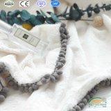 Простая конструкция чистый цвет полиэстер флис одеяла