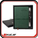 펜 & 선물 상자 세트를 가진 A5에 의하여 인쇄되는 노트북