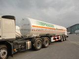 Chemical Lox Lin Lar Lco2 combustible GNL vagón cisterna semi remolque con ASME