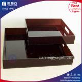 Divers plateau acrylique de portion de couleur et de modèle