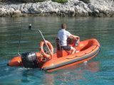 Шлюпка стеклоткани Китая Aqualand 14.5feet 4.5m твердые раздувные/спасательная лодка нервюры/шлюпка мотора (RIB440T)