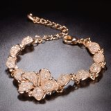 De nieuwe Armband van de Juwelen van de Manier van de Stenen van het Kristal van het Ontwerp Gele Gouden