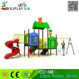 Venda de fábrica Anti-Crack Multifuncional Parque Infantil de plástico pequeno deslize com Swing