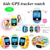 최신 아이 다채로운 Touch-Screen Y8를 가진 지능적인 GPS 추적자 시계