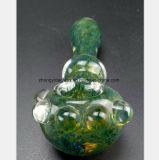 4.53 Zoll-Glaswasser-Rohr des Blumen-Muster-Glasgefäß-Filters