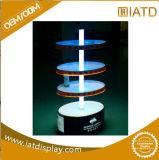 Présentoir acrylique de brochure latérale de la plaque tournante 3 de Tableau de triangle de rotation