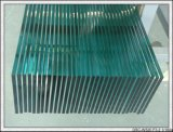 het Duidelijke Aangemaakte Glas van 319mm met Gaten, Opgepoetste Randen, Serigrafie, de Grootte van de Besnoeiing