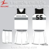 Basquetebol superior Jersey da impressão de Digitas do Sportswear da venda de Healong