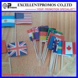 Изготовленный на заказ национальный флаг Desk с Plastic Stand (EP-17)
