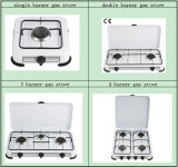 EuroStyle Four Burner Camping Gas Stove mit Cover
