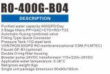 RO 400 dem System zu des Filter-600gpd