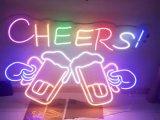Segno dell'indicatore luminoso al neon della birra LED per la decorazione del negozio