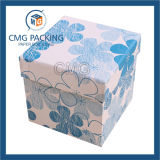 Tampa rígida do cartão e caixa de papel baixa para a jóia (CMG-015)