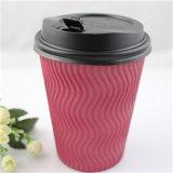 Café impreso insignia de la taza de papel de la alta calidad, taza de papel del café