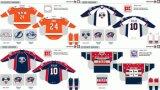 Customized Homens Mulheres Crianças Liga de Hóquei Americana Syracuse Crunch 2007-2013 Hóquei no Gelo Jersey
