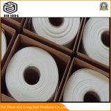 A junta de fibra cerâmica com bom efeito de isolamento Fire-Proof, pode contactar directamente com o fogo. Classificação de temperatura é 1050-1600 C.