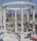 Bianco/colore giallo/Gazebo di scultura di marmo rosso per la decorazione del giardino