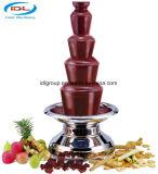 5 niveaux avec une fontaine de chocolat commerciale en acier inoxydable 304