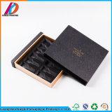 Hochwertiger schwarzer spezieller Papppapier-Fach-Geschenk-Kasten