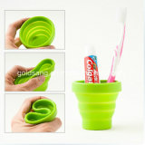 Promotionのための方法熱ResistantおよびPortable Silicone Foldable Cup