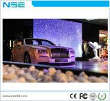 P3.75mm China Publicidade interior LED de vidro transparente tela na parede de vídeo